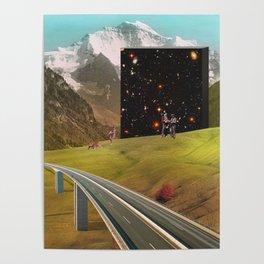 Galaxy Mountain Pass Poster