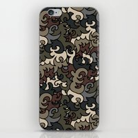 military iPhone & iPod Skins featuring Military pattern by Julia Badeeva