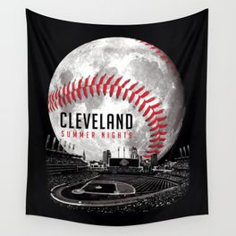 Cleveland Summer Nights Wall Tapestry