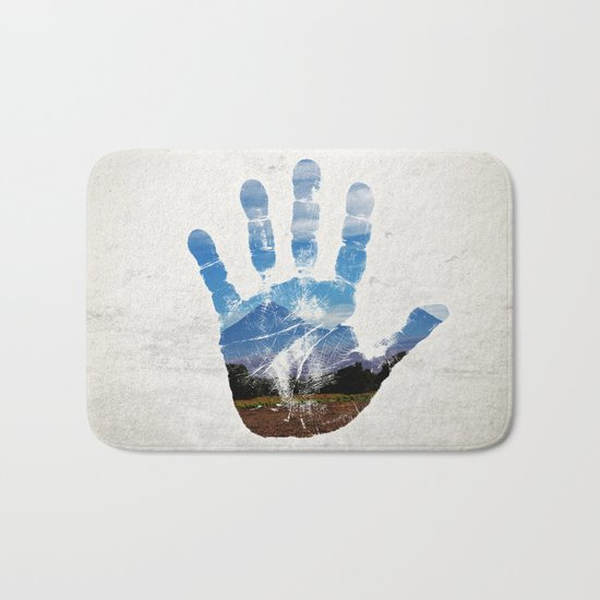 Earth Print Bath Mat