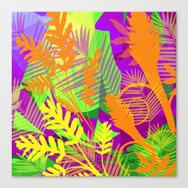 Electric Orange Tropics Canvas Print