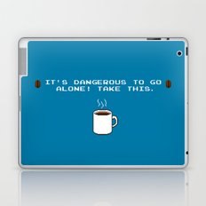 Its dangerous to go alone Take this coffee Laptop & iPad Skin