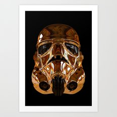 STAR | WARS - Golden Stormtrooper Helmet Art Print