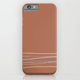 Sherwin Williams Cavern Clay Warm Terracotta SW 7701 with Scribble Lines Bottom in Accent Colors iPhone Case