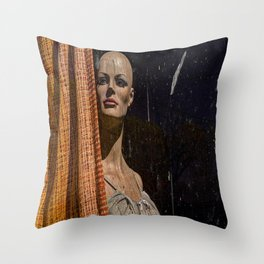 Beauty Behind The Curtain Throw Pillow