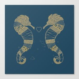 <3 of seahorses Canvas Print