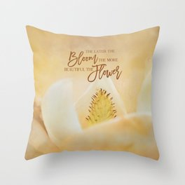 Late Magnolia Throw Pillow
