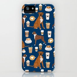 Boxer dog breed coffee pet gifts boxers pupuccino iPhone Case