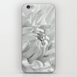 Dahlia white 191 iPhone Skin