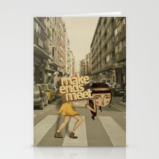 make ends meet Stationery Cards