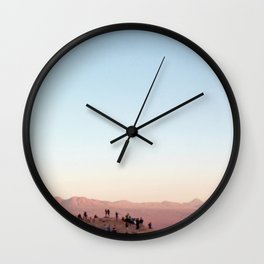 People Watching in the Moon Valley, Chile Wall Clock