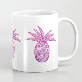 UrbanNesian Purple & Magenta Fineapple Coffee Mug