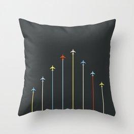 Retro Airplanes 06 Throw Pillow
