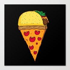 Taco Pizza Cone Canvas Print