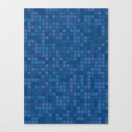 november blue geometric pattern Canvas Print