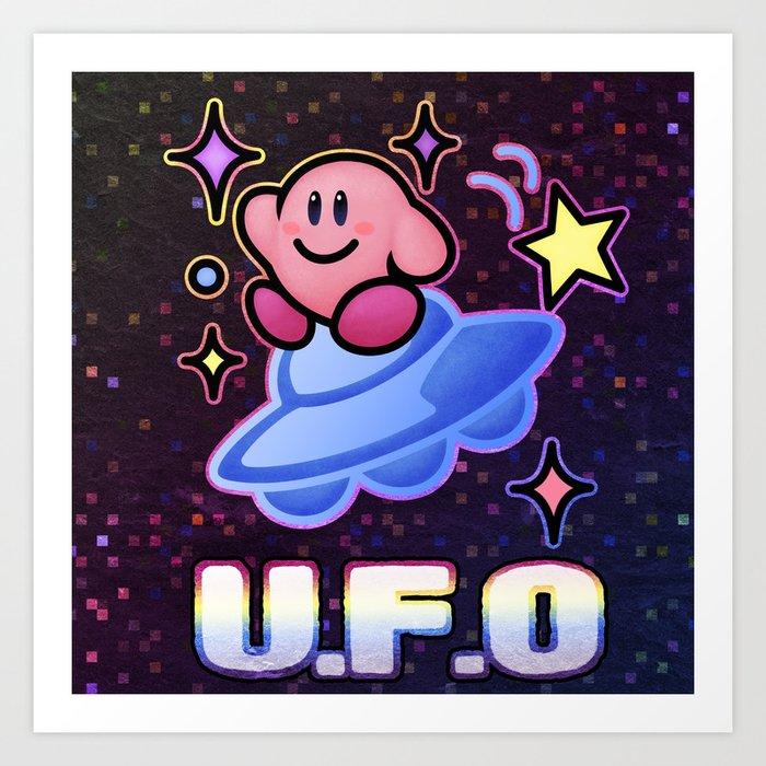 Kirby UFO Art Print