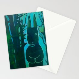 Rabbit in the Woods Stationery Cards