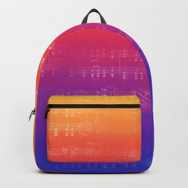 Sheet Music - Rainbow Partiture Backpack