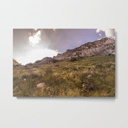 Vardzia Cave City on the south of Georgia, Europe Metal Print