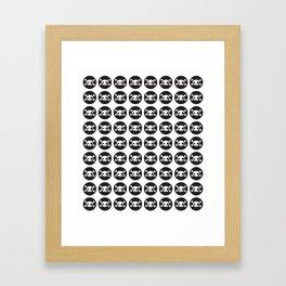Skull Pattern (Black) Framed Art Print