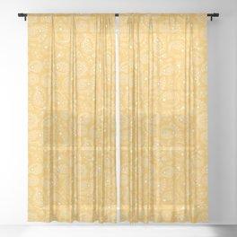 Hedgehog Paisley_Yellow Sheer Curtain