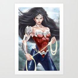 Amazon Woman Art Print