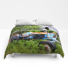 Vintage Tractor  Comforters