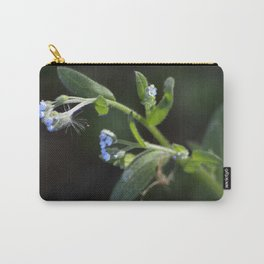 Tiny Blue Flowers Carry-All Pouch