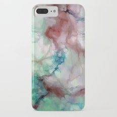 Colorful watercolor marble iPhone 7 Plus Slim Case