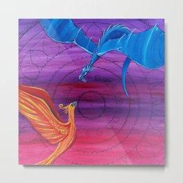 Everlasting Love - Dragon and Phoenix Metal Print