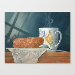 Breakfast of Champions (donut and coffee) Canvas Print