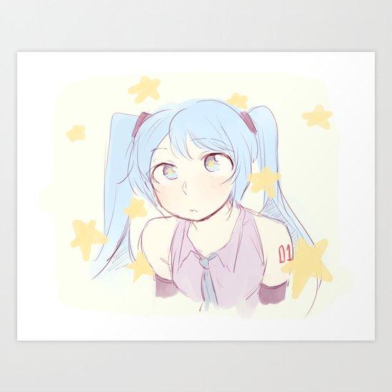 Miku! Art Print