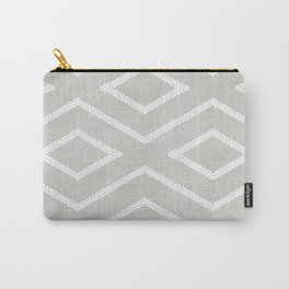 Stitch Diamond Tribal Print in Grey Carry-All Pouch