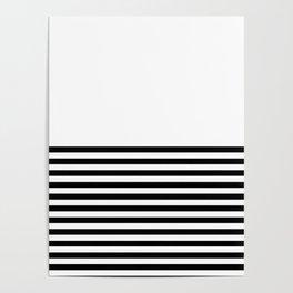 Half Stripes Poster