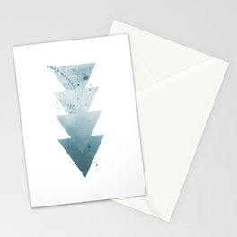 Blue Triangles. Stationery Cards