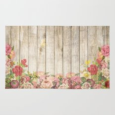 Wood Roses Rug