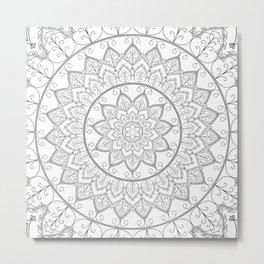 Lace Mandala Metal Print