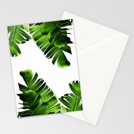 Green banana leaf Stationery Cards