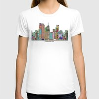 oklahoma T-shirts featuring oklahoma city skyline by bri.buckley