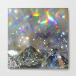 Rainbow Diamonds Metal Print