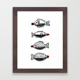 Soy Fish Bottles Framed Art Print