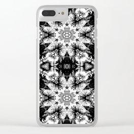 Rorschach Test Pattern Clear iPhone Case