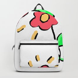 Two Little Doodle Flowers Backpack