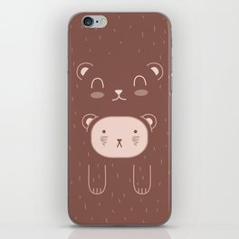 WILD + BEAR print iPhone Skin