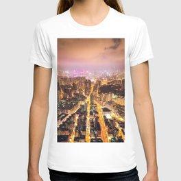 Night street in Hong Kong T-shirt