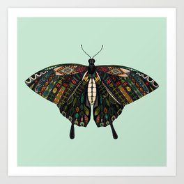 swallowtail butterfly mint Art Print