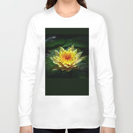 Yellow water lily Long Sleeve T-shirt