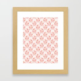 Peachy Living Coral Flower Blooms Framed Art Print