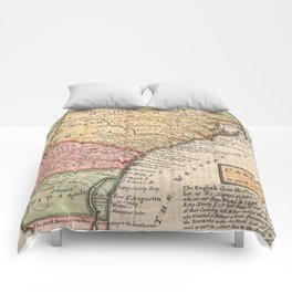Vintage Map of The Carolinas (1746) Comforters