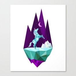 unicorn stand lonely Canvas Print